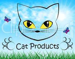 Cat Products Indicates Puss Buy And Shopping
