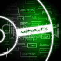 Marketing Tips Shows Email Lists And Advertising