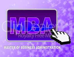 Mba Button Means Master Of Business Administration