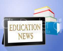 Education News Means Social Media And Book