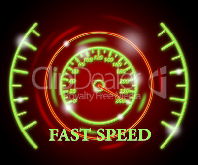Fast Speed Represents Searching Internet And Online