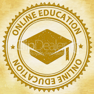 Online Education Indicates Web Site And Educated