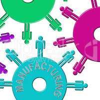Manufacturing Cogs Indicates Industry Cogwheel And Clockwork