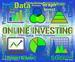 Online Investing Shows Web Site And Diagram