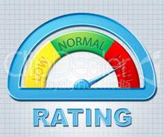 High Rating Indicates Percentage Dial And Excess