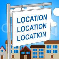 House Location Means Property Residence And Housing