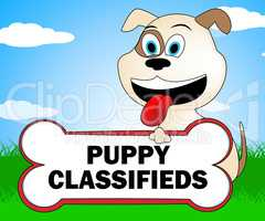 Puppy Classifieds Indicates Pets Canine And Canines