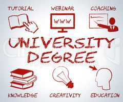 University Degree Represents Educational Establishment And Academy