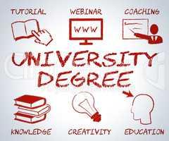 University Degree Represents Educational Establishment And Academy