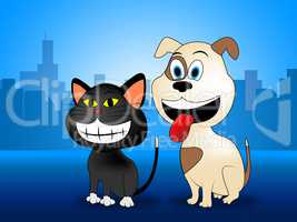 Happy Pets Represents Domestic Cat And Canines