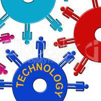 Technology Cogs Indicates Gear Wheel And Cogwheel