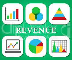 Revenue Charts Represents Business Graph And Graphic