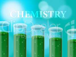 Chemistry Laboratory Shows Scientific Examination And Analysis