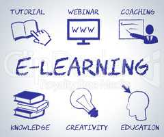 Elearning Online Represents Web Site And Educate