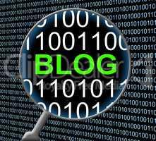 Blog Online Shows Web Site And Digital