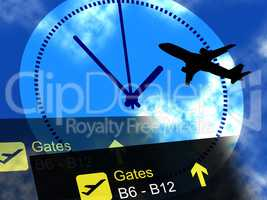 Flight Departures Indicates Airline Aeroplane And Schedules