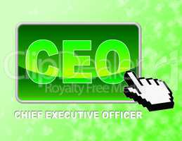 Ceo Button Means Chief Executive Officer And Chairman