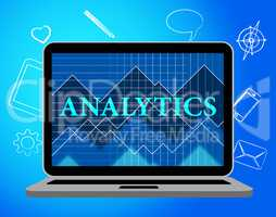 Analytics Online Shows Web Site And Computer