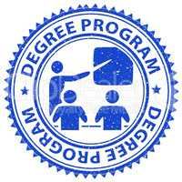 Degree Program Shows Stamps Educated And Education