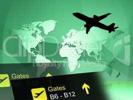 World Travel Indicates Journey Globalise And Flight