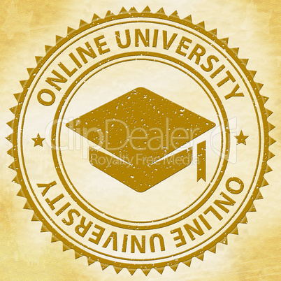 Online University Shows Web Site And Educate