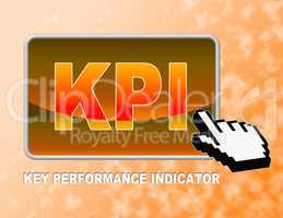 Kpi Button Indicates Key Performance Indicators And Assessment