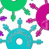 Organization Cogs Means Arrange Team And Arranged