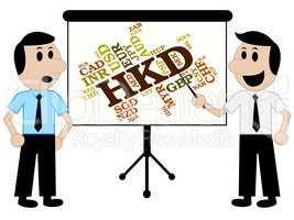 Hkd Currency Means Hong Kong Dollar And Currencies