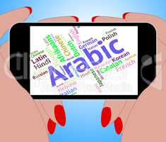 Arabic Language Means Lingo Communication And Arabia
