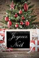 Nostalgic Tree With Joyeux Noel Means Merry Christmas