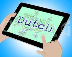 Dutch Language Means The Netherlands And Holland