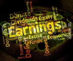 Earnings Word Means Text Yield And Salaries