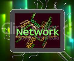 Network Word Represents Technology Computing And Web