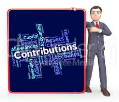 Contributions Word Means Supporter Support And Volunteer