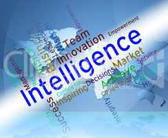 Intelligence Words Represents Intellectual Capacity And Ability