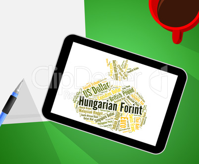 Hungarian Forint Means Exchange Rate And Banknotes