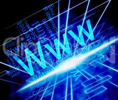 Www Word Means World Wide Web And Internet