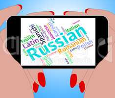 Russian Language Represents International Words And Word