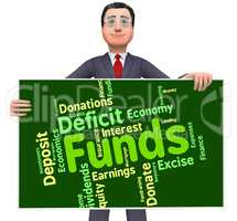 Funds Word Means Shares Words And Finance