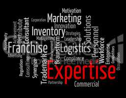 Expertise Word Represents Knowledge Education And Capabilities