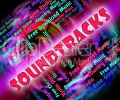 Music Soundtracks Means Video Game And Melodies