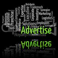 Advertise Word Indicates Words Adverts And Promoting
