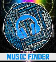 Music Finder Represents Sound Track And Acoustic