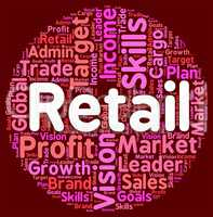 Retail Word Means Sales Sell And Market