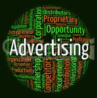 Advertising Word Means Wordcloud Words And Adverts