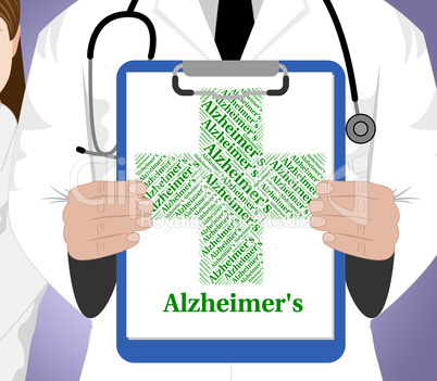 Alzheimer's Disease Shows Mental Deterioration And Affliction