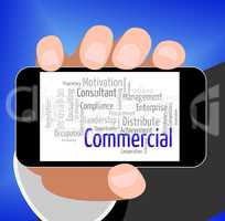 Commercial Word Indicates Importing Selling And Text