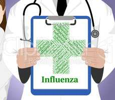 Influenza Word Means Ill Health And Affliction
