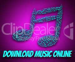 Download Music Online Indicates Web Site And Application