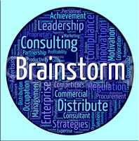 Brainstorm Word Shows Put Heads Together And Analyze